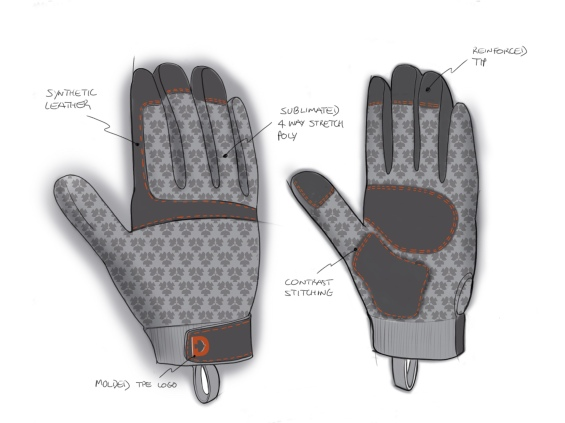 Sketching for gloves